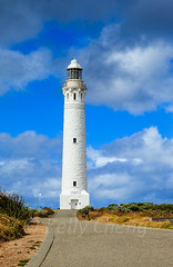 Australia-120327-140 (Kelly Cheng) Tags: travel blue lighthouse white color colour building tourism architecture clouds landscape daylight colorful day cloudy outdoor vivid australia bluesky nobody nopeople colourful copyspace westernaustralia traveldestinations capeleeuwin