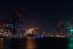 FOTO1251 (enno.korn) Tags: longexposure port harbor ship crane hamburg hafen kran elbe schiffe nachtaufnahme langzeitbelichtung