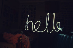 hello (shanni  sun) Tags: hello light painting bedroom torch