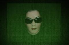 woman black green sunglasses matrix flood trinity binary 365 inspiredbythefilm floodie