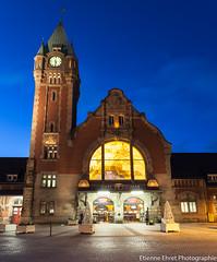 Gare, Colmar (Etienne Ehret) Tags: street light france night canon gare mark lumire colmar ii alsace 5d rue nuit 1740mm f4