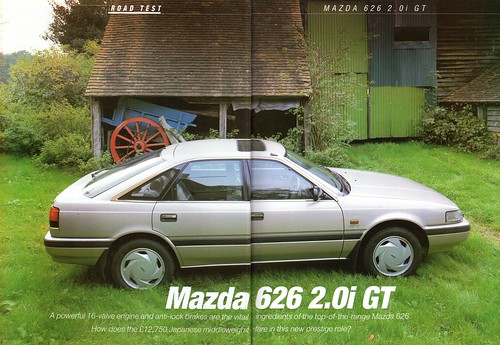 mazda 626 2.0i gt road test 1987 (1) - a photo on flickriver