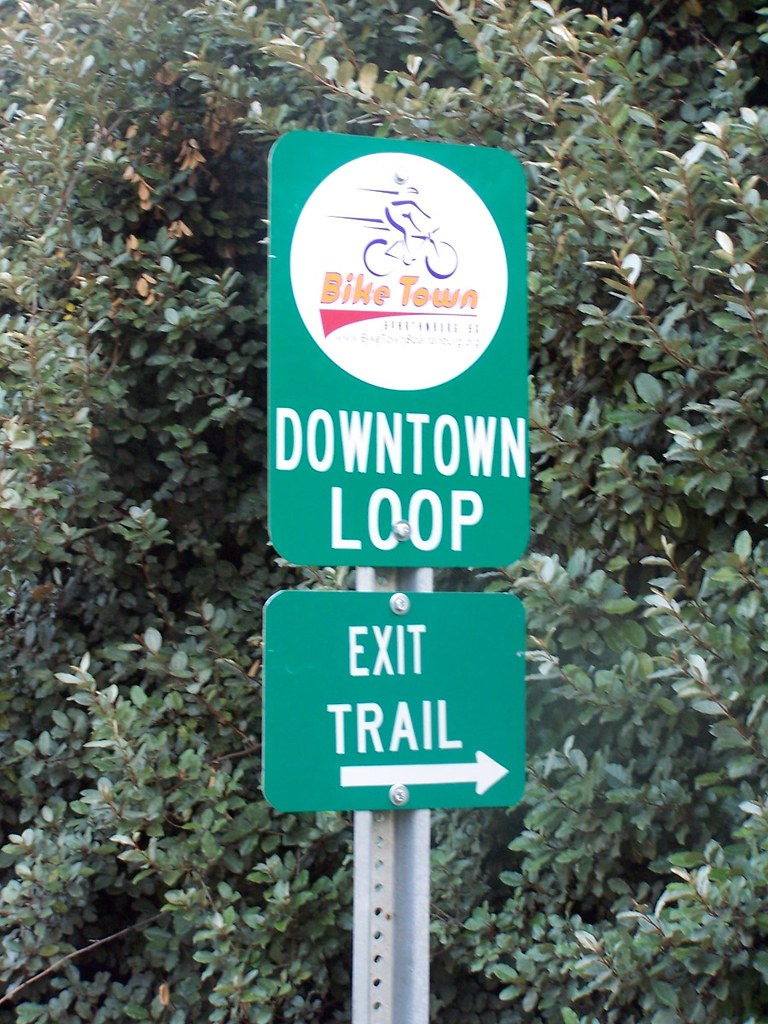 downtown bike loop sign
