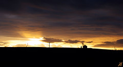 Legend of a mind II (Xenofon Levadiotis) Tags: sunset cloud brown sun abstract field lines clouds landscape grid golden countryside ray afternoon dusk country hill north minimal silo greece sunrays dense   xanthi    avdira                pezoula