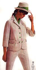 Aldens 67 ss striped suit (jsbuttons) Tags: clothing 60s buttons stripes womens 1967 catalog 67 sixties pantsuit aldens vintagefashion buttonfront