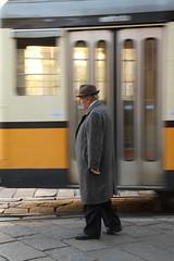Il pensiero viaggia alla velocit del desiderio. (Andrea Betelli) Tags: milano tram uomo duomo binari