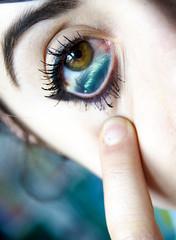 The sea in your eyes (NikiShoots) Tags: sea green eye eyes makeup hazel