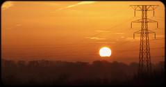 65/365 Energy (Suggsy69) Tags: orange sun silhouette yellow sunrise landscape lumix energy shadows power silhouettes pylon panasonic powerlines 365 essex braintree 365project 65365 tz35 3652014 365the2014edition panasoniclumixtz35 06032014