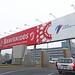 Peru, Lima, Callao, welcome billboard at Jorge Chávez International Airport #Ρeru
