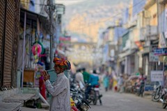 Bundi main street (t3mujin) Tags: bundi india man street rajasthan village asia male people fav10