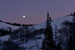 Moon/Nightscape, Park City, Utah (mainesmelissa) Tags: park city moon mountain snow night utah challengegamewinner