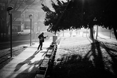 Morning at Victory Square (. Jianwei .) Tags: urban music man tree vancouver candid sony cambie victorysquare 2014 nex kemily nex6