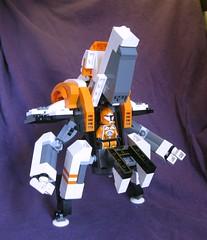 Leviathan 1.1 (cockpit open, 2/3 view) (Jandyman) Tags: toy nose robot lego space cockpit astro bignose scifi sciencefiction minifig mecha mech minifigure moc spaceteam jandyman