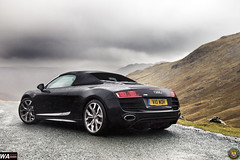 Audi R8 in the Lake District (Will Aron) Tags: road black mountains cars landscape district lakes german valley audi supercar r8