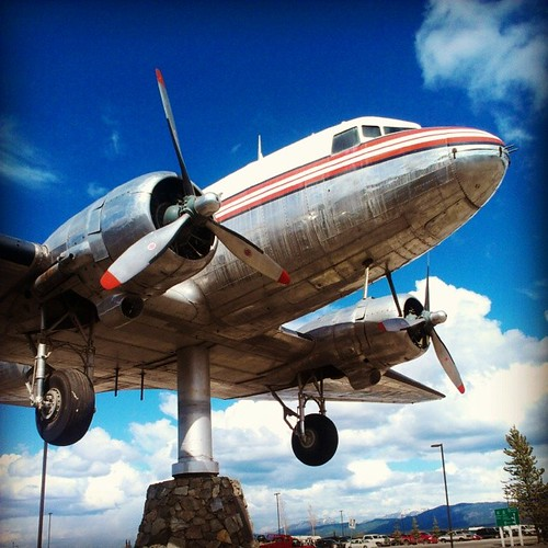 This decommissioned DC-3 at #yukon transportation museum is the world's largest weathervane #yxy