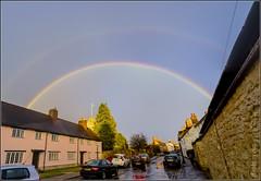 Double rainbow (FlickrDelusions) Tags: england panorama rainbow unitedkingdom oxford photomerge standrews doublerainbow oxfordshire standrewsroad oldheadington