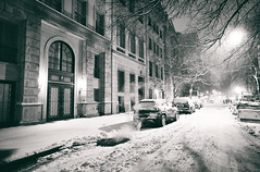 New York City - Snow at Night - Empty Streets (Vivienne Gucwa) Tags: nyc newyorkcity winter snow newyork manhattan snowstorm gothamist curbed urbanphotography newyorkatnight nycnight nycwinter nycsnow citysnow newyorksnow nycblizzard nycbook cityphotography newyorkwinter newyorkcityphotography newyorkphotographer newyorkbook viviennegucwa viviennegucwaphotography noreasternyc nythroughthelens newyorkphotographybook blizzard2015 2015snowstormnyc historicblizzardnewyorkcity juno2015newyorkcity junonyc newyorkcityjuno newyorkinablizzard