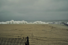 Nor'Easter Waves (Janine J. Nelson) Tags: ocean winter storm beach weather newjersey waves january capemay jerseyshore noreaster