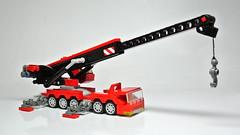 Microscale Lego Mobile Crane (MOC) (hajdekr) Tags: motion mobile toy automobile lego crane small machine technic vehicle easy winch liebherr mobilecrane microscale mobilkran