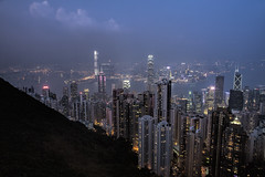 _MG_0305_1 Hong Kong, Peak-View 5 (idunavision) Tags: sunset zeiss skyscraper hongkong lights sonnenuntergang peak kowloon hochhuser victoricaharbour