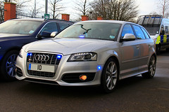 Unmarked Audi S3 (PFB-999) Tags: car station traffic police lincolnshire covert vehicle leds roads audi s3 grilles hatchback unit unmarked grantham rpu lincs constabulary policing fendoffs dashlight