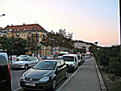 Streets of vienna,Summer evening