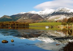 derwent water 2 (plot19) Tags: uk lake snow mountains reflection water landscape photography boat nikon day northwest britain district derwent north scene cumbria british northern plot19