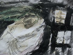 The Windy Night (giveawayboy) Tags: door house tree art window grass pen painting tampa sketch paint artist acrylic wind drawing ghost eerie spooky crayon ghostly hag fch giveawayboy billrogers