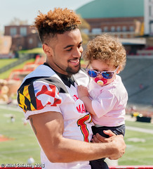 Maryland_White_on_Red_20160416_1577.jpg (hillels) Tags: park game college sports field sport photography one football spring team dj outdoor stadium maryland capitol practice terps byrd durkin collegepark testudo byrdstadium terp capitolonefield djdurkin