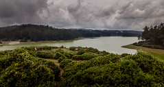 Ooty (uvsb) Tags: travel blue india lake green water clouds landscape hills tamilnadu ooty shootingpoint