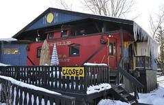 Arkville, New York (2 of 3) (Bob McGilvray Jr.) Tags: wood railroad red ny newyork train wooden tracks caboose cupola bb bedbreakfast arkville