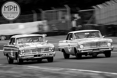 Ford Falcon Sprint's (MPH94) Tags: auto park ireland white black west cars ford cup sports monochrome car sport race canon championship martin cheshire north may racing falcon british motor 50s gt henderson 50 sprint challenge motorracing inc innes sadler motorsport 70300 xk 500d oulton meling minshaw
