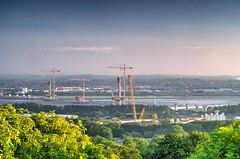 Mersey Gateway - Different view (Jeffpmcdonald) Tags: bridge cheshire runcorn widnes rivermersey haltoncastle merseygateway nikond7000 jeffpmcdonald may2016