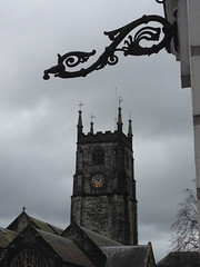 Tavistock (kathmo) Tags: england clock churchtower devon ironwork tavistock