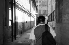 Olympus Mju II - His Last Time in the Work 2 (Kojotisko) Tags: bw streetphotography brno creativecommons streetphoto rodinal fomapan100 mju2 olympusmjuii