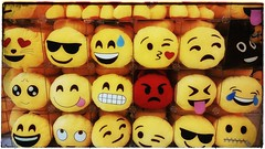 Just how much emotion can you squeeze out of one frame? (Finepixtrix) Tags: yellow emoticons shoppingmall z3 sandtoncity emoji sonyxperia