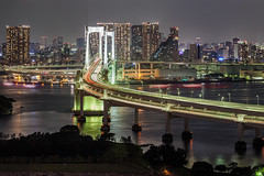 Tokyo Cityscape 6524 (kbaranowski) Tags: longexposure sunset urban reflection japan horizontal skyline architecture modern night speed skyscraper river outdoors photography tokyo cityscape citylife tranquility nopeople illuminated transportation nippon japaneseculture touristattraction nihon tokyobay rainbowbridge urbanlandscape tokio ontheway lighttrail roadtraffic urbanstreet urbanstreets capitalcities famousplace buildingexterior touristdestination elevatedview elevatedhighways krzysztofbaranowski 2016krzysztofbaranowski