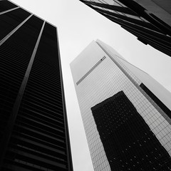 New York Architecture #253 (Ximo Michavila) Tags: city nyc windows urban bw usa newyork abstract reflection building geometric glass lines architecture square grey day cityscape cloudy perspective monochromatic blackwhte archidose archdaily archiref ximomichavila