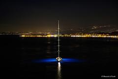 Yacht @ Taormina Bay (Alessandro Lo Piccolo Hollweger) Tags: bay nightscape yacht sicily colourful taormina luxury