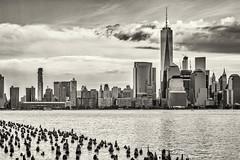 New York from Newport (Rajan Raju) Tags: blackandwhite newyork skyline cityscape cityskyline freedomtower thisisnewyorkcity