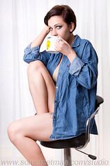 Somersetman3309-3 (somersetman) Tags: morning coffee studio mug mrhappy denimshirt mansshirt modelemmalouise