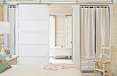Wardrobe Wall Betrween Master Bedroom & Bathroom (Heath & the B.L.T. boys) Tags: door closet bathroom bedroom chair curtain tub drawer organize neutral