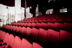 Abandoned cinema, somewhere in Italy. (ste_peg) Tags: light red italy cinema building abandoned architecture dark design italia waves place darkness decay exploring edificio urbanexploration seats rosso architettura decadence posto onde urbex abbandono rosse abbandonato poltrone degrado stepeg