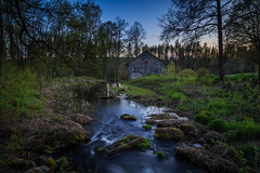 The old smithy (PixPep) Tags: blue nature creek forest spring sweden hour vrmland smitty pixpep gammekroppa