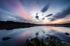 Lac Chauvet  la fin du crpuscule (Windwsill) Tags: voyage longexposure sunset lake france lac paysage rocher auvergne coucherdesoleil puydedme etang poselongue lacchauvet rockcaillouxgalets