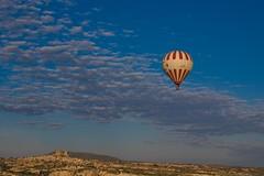 A Lone Balloon (iamfisheye) Tags: camera turkey lens olympus kit e3 zuiko cappadocia 2010 goreme balloonride zd 1454mm turkey2010
