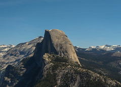 Half Dome - Side (Garden State Hiker) Tags: california mountains nature landscape outdoors nationalpark hiking sunny bluesky hike clear yosemite halfdome yosemitenationalpark treeline hikes sierranevadas sierranevadamountains panoramatrail illilouettetrail