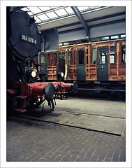 rairoad heritage - part of series - 2 (macfred64) Tags: railroad 120 film mediumformat 645 railway slide chrome transparency 6x45 fujiprovia100f eisenbahnmuseumbochumdahlhausen fujiga645wi fujinon45mmf4 railroadheritage