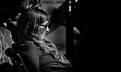 Sunshine (Owen J Fitzpatrick) Tags: ireland portrait blackandwhite bw dublin woman white black monochrome smile sunglasses mono j blackwhite nikon sitting view pavement candid seat profile joe shades use only editorial owen brunette unposed tamron seated vico chasing realism fitzpatrick candidportrait candidphoto candidphotography republicofireland ojf chasingpavement d3100 ojfitzpatrick