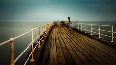 Whitby Pier, long exposure (Mister Electron) Tags: longexposure sea coast pier rust yorkshire deck motionblur filter walkway northsea whitby nd slowshutter ghostly railings decking northyorkshire whitbypier neutraldensity nikond800 bigstopper plankswooden